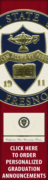 Order your California State University - Fresno Graduation Announcements NOW!