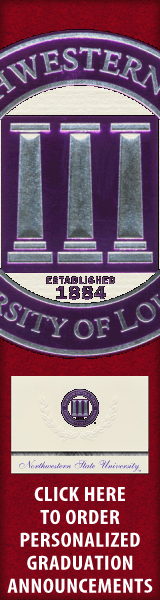 Order your Northwestern State University Graduation Announcements NOW!