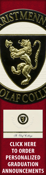 Order your St. Olaf College Graduation Announcements NOW!