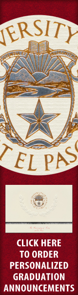 Order your University of Texas at El Paso Graduation Announcements NOW!