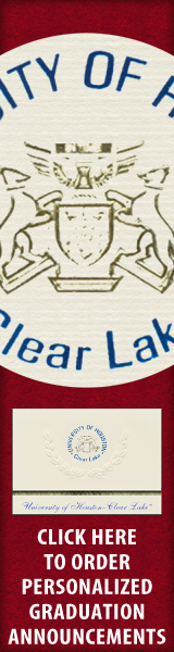 Order your University of Houston - Clear Lake Graduation Announcements NOW!