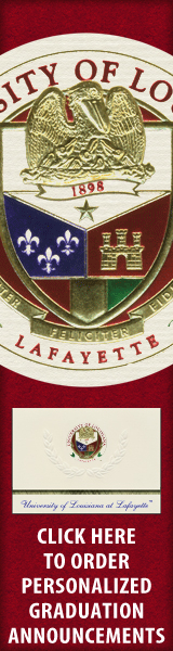 Order your University of Louisiana at Lafayette Graduation Announcements NOW!