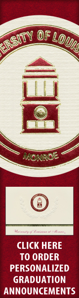 Order your University of Louisiana at Monroe Graduation Announcements NOW!