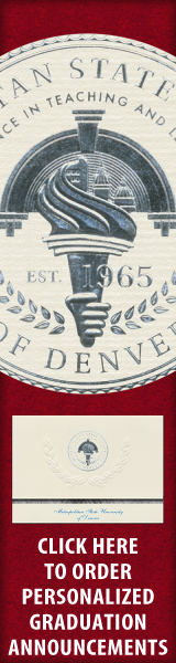 Order your Metropolitan State University of Denver Graduation Announcements NOW!