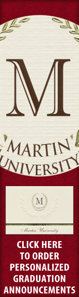 Order your Martin University Graduation Announcements NOW!