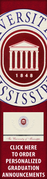 Order your University of Mississippi Graduation Announcements NOW!