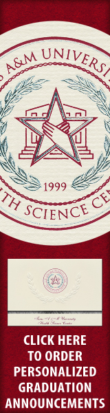 Order your Texas A&M Health Science Center - College of Pharmacy Graduation Announcements NOW!