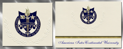 American InterContinental University Graduation Announcements