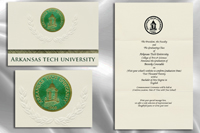Platinum Style Arkansas Tech University Graduation Announcement