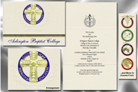 Platinum Style Arlington Baptist College Graduation Announcement
