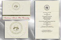 Platinum Style Armstrong Atlantic State University Graduation Announcement