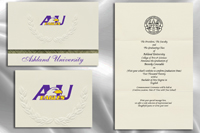 Platinum Style Ashland University Graduation Announcement