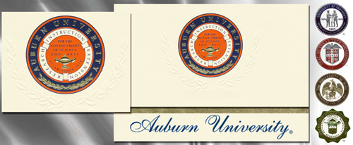Platinum Auburn-University Graduation Cards