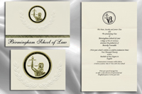 Platinum Style Birmingham School of Law Graduation Announcement