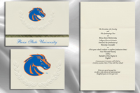 Platinum Style Boise State University Graduation Announcement