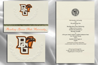 Platinum Style Bowling Green State University Graduation Announcement