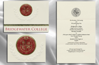 Platinum Style Bridgewater College Graduation Announcement