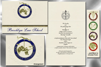 Platinum Style Brooklyn Law School Graduation Announcement