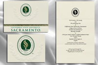 Platinum Style California State University - Sacramento Graduation Announcement
