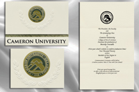Platinum Style Cameron University Graduation Announcement