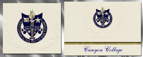 Canyon College Graduation Announcements