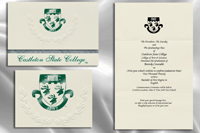 Platinum Style Castleton State College Graduation Announcement