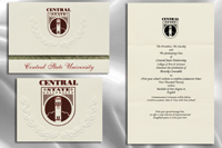 Platinum Style Central State University Graduation Announcement