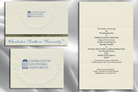 Platinum Style Charleston Southern University Graduation Announcement