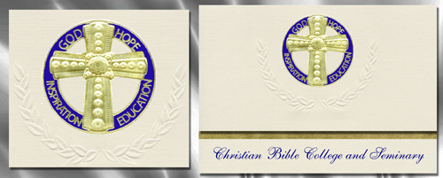 Christian Bible College and Seminary Graduation Announcements