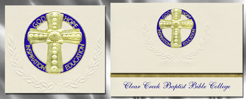 Clear Creek Baptist Bible College Graduation Announcements