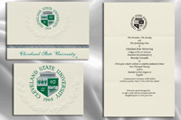 Platinum Style Cleveland State University Graduation Announcement