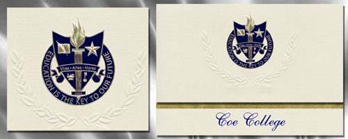 Coe College Graduation Announcements
