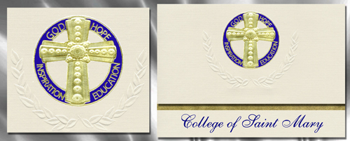 College of Saint Mary Graduation Announcements
