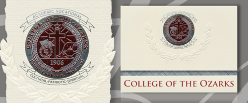 College of The Ozarks Graduation Announcements