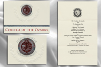 Platinum Style College of The Ozarks Graduation Announcement