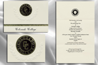 Platinum Style Colorado College Graduation Announcement
