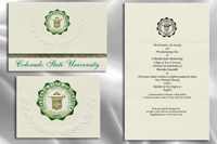 Platinum Style Colorado State University Graduation Announcement