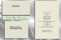 Platinum Style Delta State University Graduation Announcement