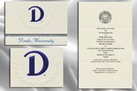 Platinum Style Drake University Graduation Announcement