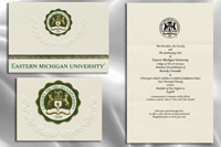 Platinum Style Eastern Michigan University Graduation Announcement