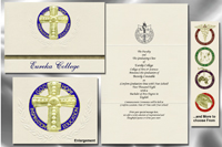 Platinum Style Eureka College Graduation Announcement