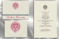 Platinum Style Fordham University Graduation Announcement
