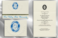 Platinum Style Fort Valley State University Graduation Announcement