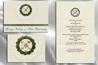 Platinum Style Georgia College & State University Graduation Announcement