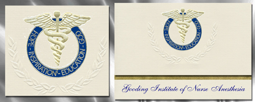 Gooding Institute of Nurse Anesthesia Graduation Announcements