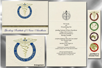Platinum Style Gooding Institute of Nurse Anesthesia Graduation Announcement