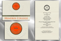 Platinum Style Hendrix College Graduation Announcement