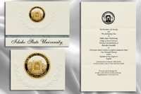 Platinum Style Idaho State University Graduation Announcement