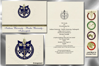 Platinum Style Indiana University - Purdue University - Indianapolis Graduation Announcement