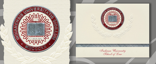 Indiana University School of Law - Indianapolis Graduation Announcements